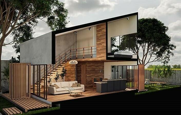 Casa-hormigón-54-M2-interior